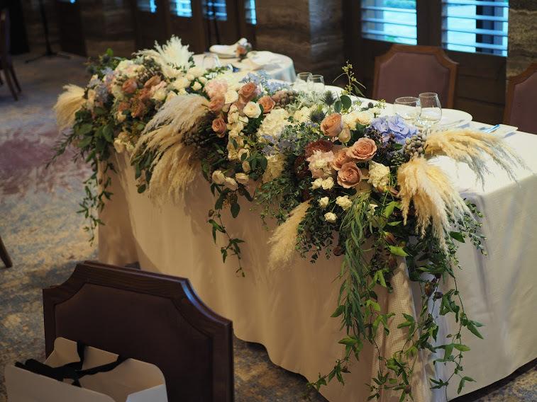 ウーツェがプロデュースする赤坂プリンスクラシックハウスの会場装花