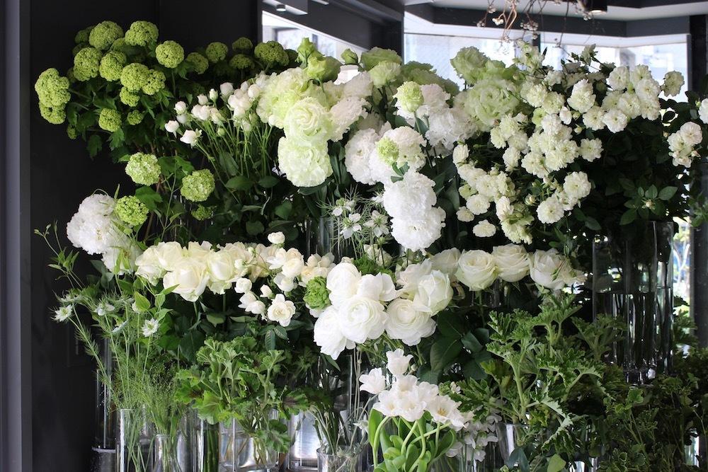 白とグリーンの植物のみを扱う恵比寿のkusakanmuri。