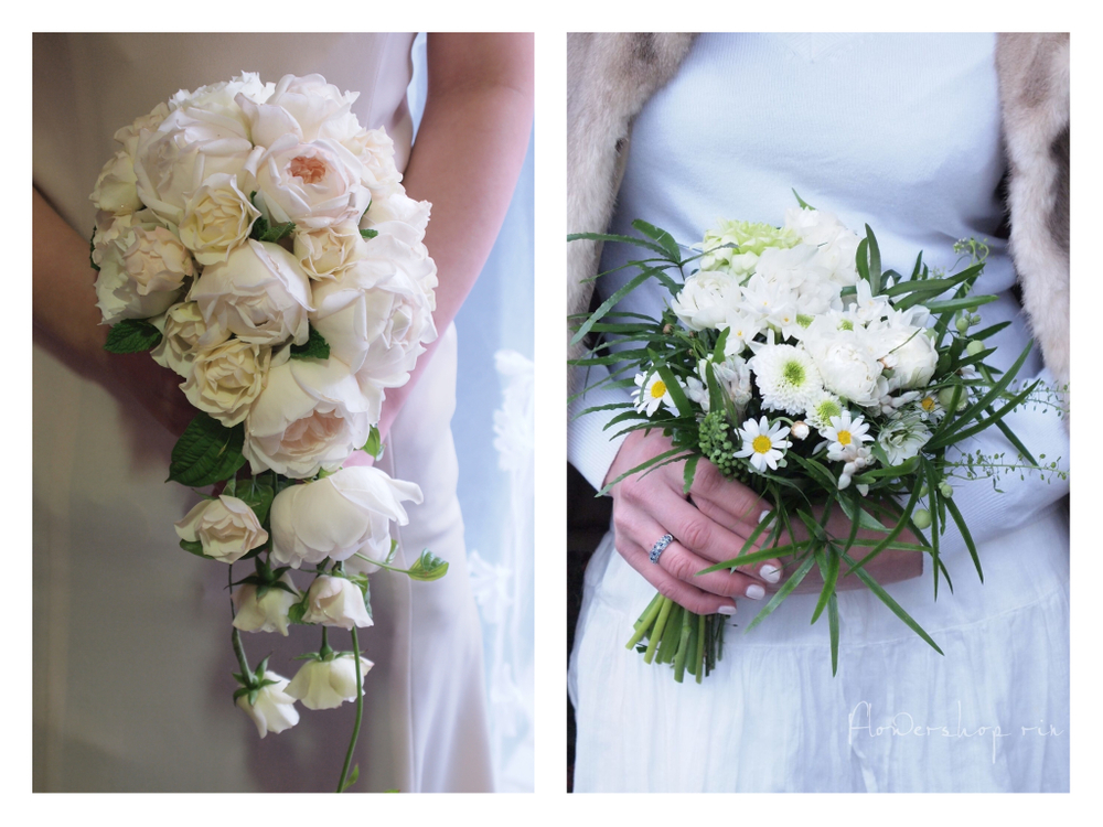 花屋「凜」がデザインした白いウェディングブーケ